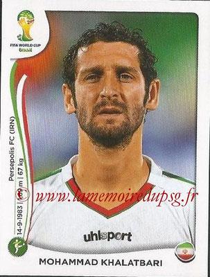 2014 - Panini FIFA World Cup Brazil Stickers - N° 468 - Mohammad KHALATBARI (Iran)