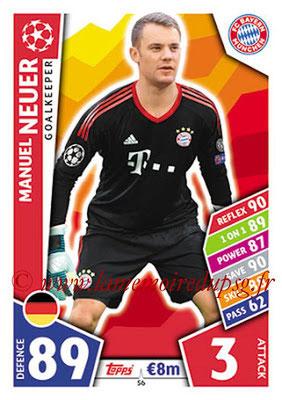 2017-18 - Topps UEFA Champions League Match Attax - N° 056 - Manuel NEUER (FC Bayern Munich)