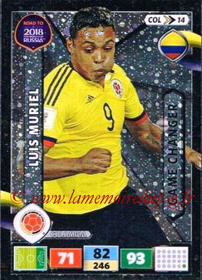 2018 - Panini Road to FIFA World Cup Russia Adrenalyn XL - N° COL14 - Luis MURIEL (Colombie) (Game Changer)