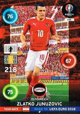 Panini Road to Euro 2016 Cards - N° 140 - Zlatko JUNUZOVIC (Autriche)