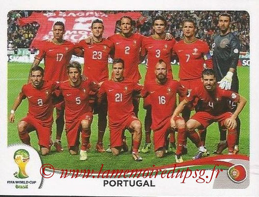 2014 - Panini FIFA World Cup Brazil Stickers - N° 508 - Equipe Portugal