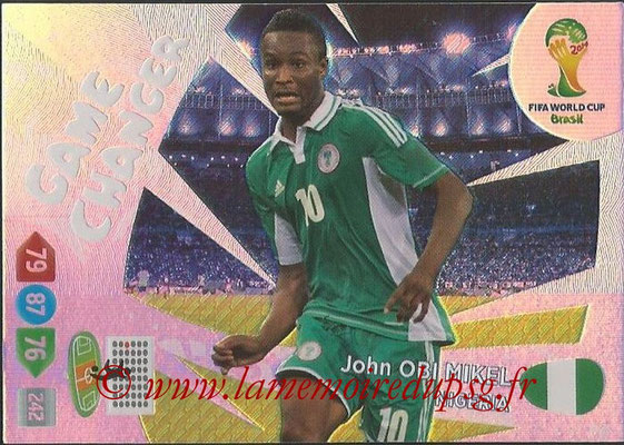 2014 - Panini FIFA World Cup Brazil Adrenalyn XL - N° 403 - John OBI MIKEL (Nigeria) (Game Changer)
