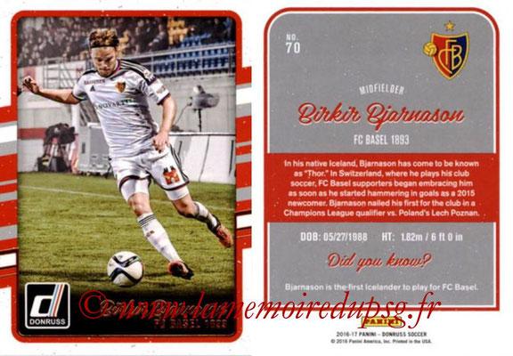 2016 - Panini Donruss Cards - N° 070 - Birkir BJARNASON (FC Bâle)