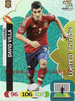Panini Euro 2012 Cards Adrenalyn XL - N° LE24 - David VILLA (Espagne) (Limited Edition)