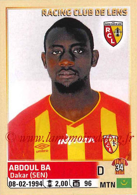 2014-15 - Panini Ligue 1 Stickers - N° 126 - Abdoul BA (RC Lens)