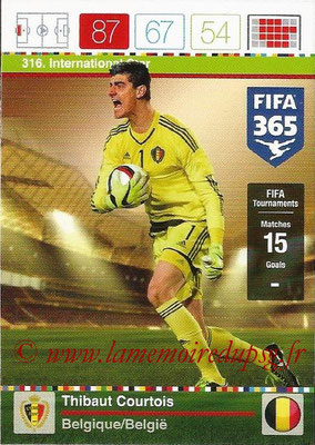 2015-16 - Panini Adrenalyn XL FIFA 365 - N° 316 - Thibaut COURTOIS (Belgique) (International Star)