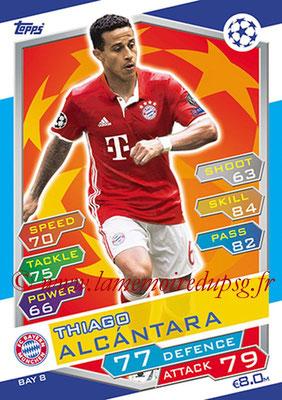 2016-17 - Topps UEFA Champions League Match Attax - N° BAY8 - Thiago ALCANTARA (FC Bayern Munich)