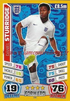 Topps Match Attax England 2014 - N° 100 - Daniel STURRIDGE (Angleterre)