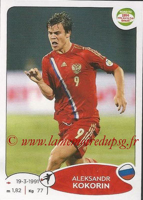2014 - Panini Road to FIFA World Cup Brazil Stickers - N° 340 - Aleksandr KOKORIN (Russie)