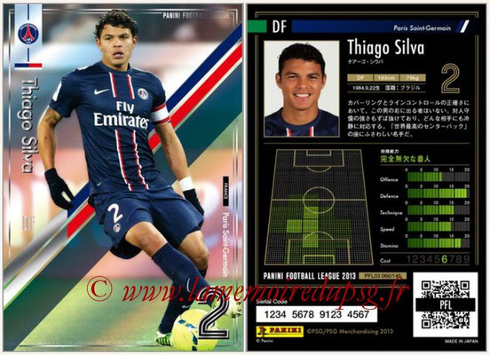Panini Football League 2013 - PFL03 - N° 066 - Thiago Silva (Paris Saint-Germain)