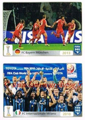 2015-16 - Panini FIFA 365 Stickers - N° 023-024 - FC Bayern Munich (2013) + FC Internazionale (2010) (FIFA Club World Cup)