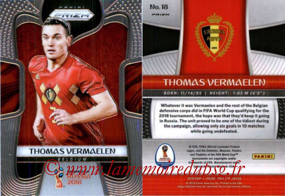 2018 - Panini Prizm FIFA World Cup Russia - N° 018 - Thomas VERMAELEN (Belgique)
