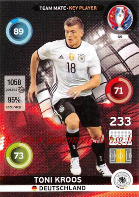 Panini Euro 2016 Cards - N° 069 - Toni KROOS (Allemagne) (Key Player)