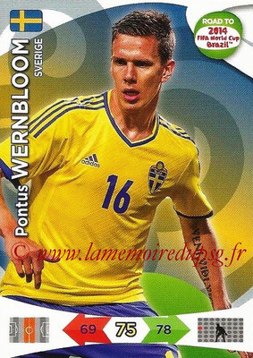 2014 - Panini Road to FIFA World Cup Brazil Adrenalyn XL - N° 170 - Pontus WERNBLOOM (Suède)