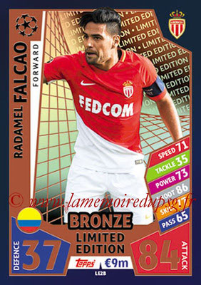2017-18 - Topps UEFA Champions League Match Attax - N° LE2B - Radamel FALCAO (AS Monaco) (Limited Edition Bronze)