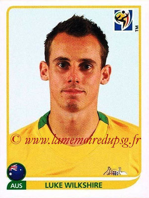 2010 - Panini FIFA World Cup South Africa Stickers - N° 286 - Luke WILKSHIRE (Australie)