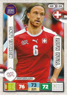 2018 - Panini Road to FIFA World Cup Russia Adrenalyn XL - N° SUI04 - Michael LANG (Suisse)