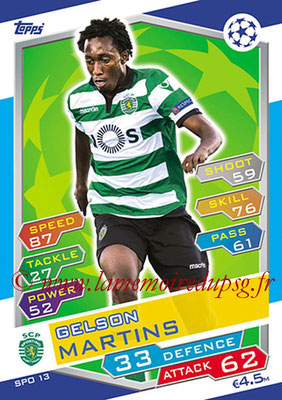 2016-17 - Topps UEFA Champions League Match Attax - N° SPO13 - Gelson MARTINS (Sporting Club de Portugal)
