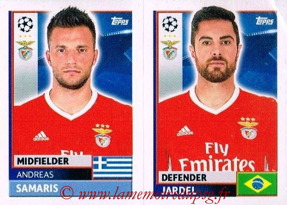 2016-17 - Topps UEFA Champions League Stickers - N° BEN 10-11 - JARDEL + Andreas SAMARIS (SL BenFica)