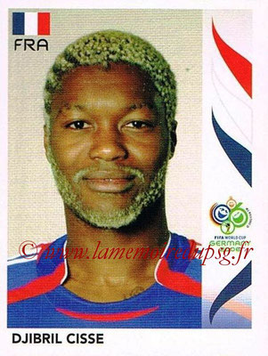 2006 - Panini FIFA World Cup Germany Stickers - N° 468 - Djibril CISSE (France)