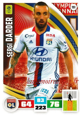 2016-17 - Panini Adrenalyn XL Ligue 1 - N° 151 - Sergi DARDER (Lyon)