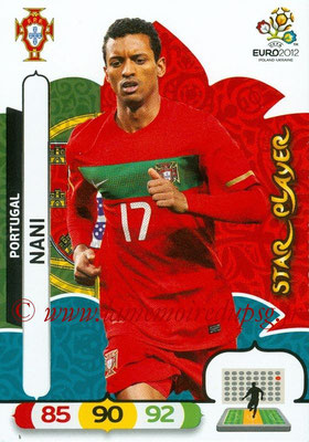 Panini Euro 2012 Cards Adrenalyn XL - N° 170 - NANI (Portugal) (Star Player)