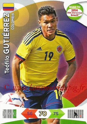 2014 - Panini Road to FIFA World Cup Brazil Adrenalyn XL - N° 036 - Teofilo GUTIERREZ (Colombie)