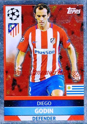 2016-17 - Topps UEFA Champions League Stickers - N° ATL 3 -Diego GODIN (Club Atletico de Madrid)