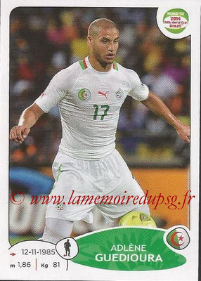 2014 - Panini Road to FIFA World Cup Brazil Stickers - N° 370 - Adlène GUEDIOURA (Algérie)