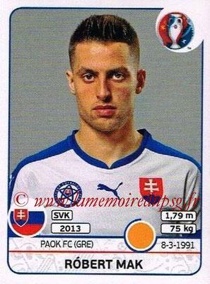 Panini Euro 2016 Stickers - N° 226 - Robert MAK (Slovénie)