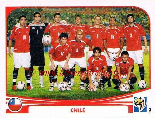 2010 - Panini FIFA World Cup South Africa Stickers - N° 619 - Équipe Chili