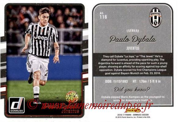 2016 - Panini Donruss Cards - N° 116 - Paulo DYBALA (Juventus FC)