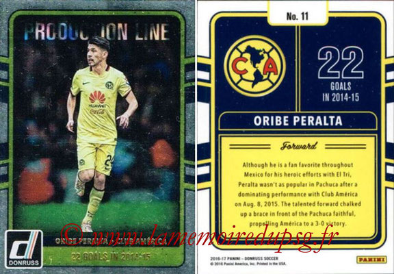 2016 - Panini Donruss Cards - N° PL11 - Oribe PERALTA (Club America) (Production Line)