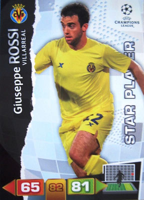 2011-12 - Panini Champions League Cards - N° 265 - Giuseppe ROSSI (Villarreal) (Star Player)