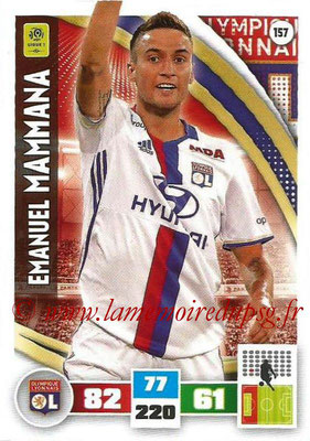 2016-17 - Panini Adrenalyn XL Ligue 1 - N° 157 - Emanuel MAMMANA (Lyon)