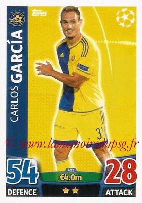 2015-16 - Topps UEFA Champions League Match Attax - N° 402 - Carlos GARCIA (Maccabi Tel-Aviv FC)