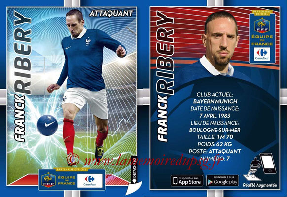 WC 2014 Collection Carrefour 3D Bleus - N° 22 - Franck RIBERY (Bayern Munich)