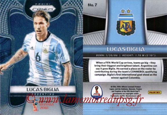 2018 - Panini Prizm FIFA World Cup Russia - N° 007 - Lucas BIGLIA (Argentine)
