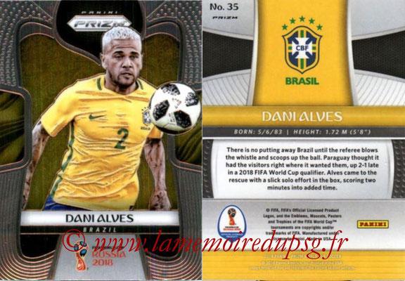2018 - Panini Prizm FIFA World Cup Russia - N° 035 - Dani ALVES (Bresil)
