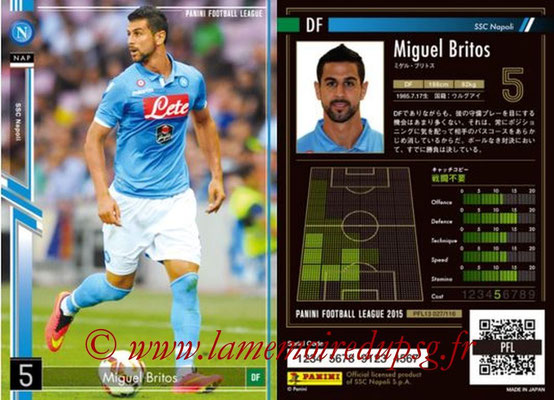Panini Football League 2015 - PFL13 - N° 028 - Miguel BRITOS (SSC Napoli)