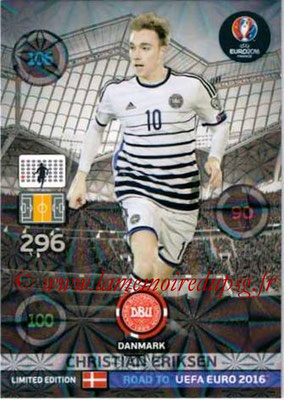 Panini Road to Euro 2016 Cards - N° LE-CE - Christian ERIKSEN (Danemark) (Limited Edition)