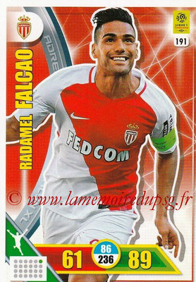 2017-18 - Panini Adrenalyn XL Ligue 1 - N° 191 - Radamel FALCAO (Monaco)