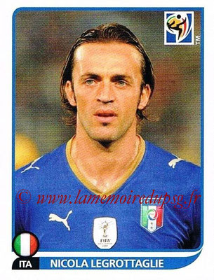 2010 - Panini FIFA World Cup South Africa Stickers - N° 417 - Nicola LEGROTTAGLIE (Italie)