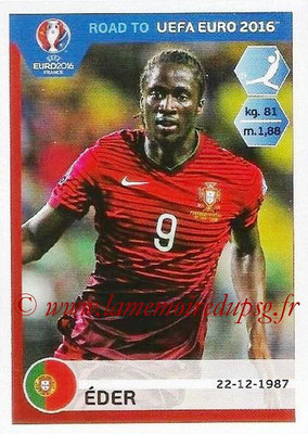 Panini Road to Euro 2016 Stickers - N° 239 - EDER (Portugal)
