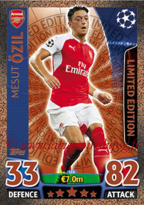 2015-16 - Topps UEFA Champions League Match Attax - N° LE6 - Mesut ÖZIL (Arsenal FC) (Limited Edition Bronze)