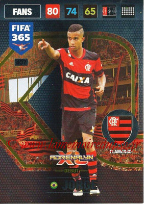 2016-17 - Panini Adrenalyn XL FIFA 365 - N° 407 - JORGE (Flamengo) (Debut)