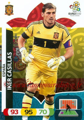 Panini Euro 2012 Cards Adrenalyn XL - N° 058 - Iker CASILLAS (Espagne)