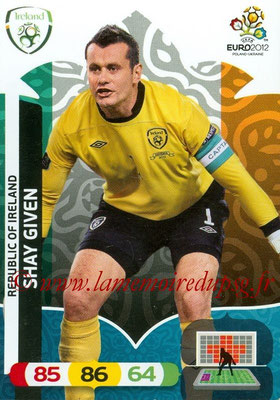 Panini Euro 2012 Cards Adrenalyn XL - N° 178 - Shay GIVEN (Eire)