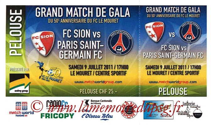 Ticket  Sion-PSG  2011-12