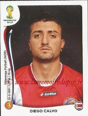 2014 - Panini FIFA World Cup Brazil Stickers - N° 294 - Diego CALVO (Costa Rica)